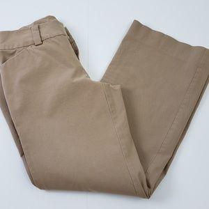 Gap Pants size 4 Ankle Khaki Beige Stretch Career